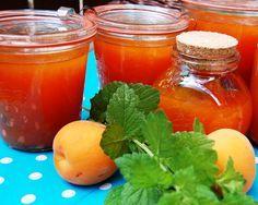 """Katčina báječná kuchyně: Francouzská meruňková zavařenina """"Le Töp du Töp"""" Marmalade Jam, Food Storage, Cantaloupe, Honey, Smoothie, Stuffed Peppers, Canning, Vegetables, Fruit"""
