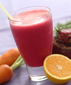 Suco de beterraba, laranja e cenoura