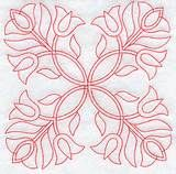 Triple Tulips Quilting Square (Double Run)