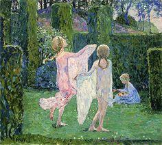The Athenaeum - Children at play (Johann Heinrich Vogeler - )