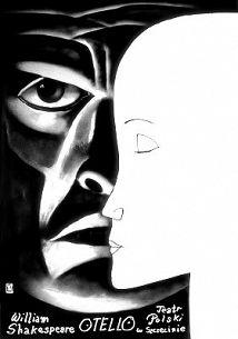 Othello, Shakespeare, Polish Theater Poster
