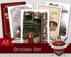A5 Printable Dividers Set Harry Potter by TalesofWonderland