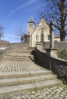 The staircase leading to St Donatus Church,Arlon