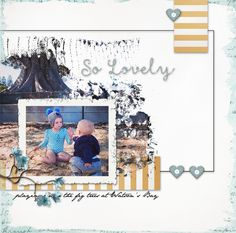 So Lovely, digital scrapbook page by Sharon  :-)