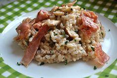 Risotto ai funghi porcini e speck croccante | maniamorefantasia blog