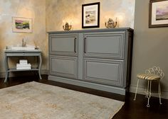 Love this Murphy bed for the office