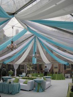 Ceiling Decor for a Wedding Reception Blue Wedding, Dream Wedding, Wedding Day, Wedding Things, Wedding Colors, Frozen Wedding, Tent Decorations, Wedding Decorations, Birthday Decorations