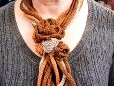 La Cesta dei lavori di Loredana   Collana scaldacollo con le rose a crochet