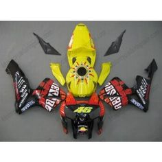 Honda CBR 600RR F5 2005-2006 Injection ABS Fairing - Rossi  - Yellow/Red/Black | $639.00