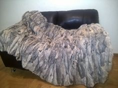 Luxury Real Rabbit Throw Blanket by LUXURYFURS on Etsy