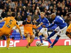Marlon King fires home his 10th of the season during the 3-2 loss to Hull City at St. Andrew's. November 2012. #BCFC
