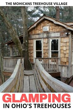 If you're looking for someplace to go glamping in Ohio it doesn't get any better than a trip to The Mohicans treehouse village. Romantic Weekend Getaways, Romantic Vacations, Couples Vacation, Vacation Ideas, Camping In Ohio, Go Glamping, Tree House Designs, Family Getaways