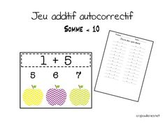 maths CP: jeu additif autocorrectif 01