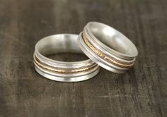 Ring / Wedding Bands smooth band adorned with by SusieBrandJewelry, $168.00