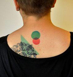 Geometric tattoo | Marcin Aleksander Surowiec | b&w | back