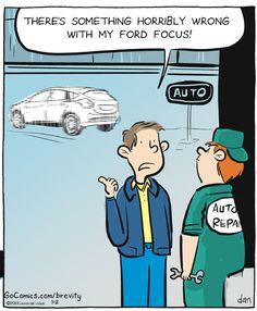 Out of focus. Brevity on GoComics.com #Humor #Cars #Ford #Comics