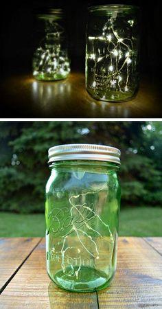 Firefly Mason Jar Lights   Click Pic for 22 DIY Summer Wedding Ideas on a Budget   DIY Garden Wedding Ideas on a Budget
