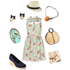 """Eye Catching Retro Picnic Outfit"" by lilyfairjewelry on Polyvore"