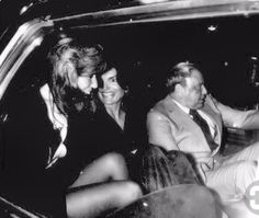 Jackie parties with Sinatra and Jane Fonda in the late '70s.