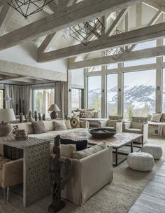 In the Rocky Mountains of Montana, this rustic mountain home was designed by Locati Architects in collaboration with interiors studio Cashmere Interior.