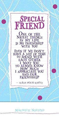 Special Friends by Susan Polis Schutz (NP330) Blue Mountain Arts