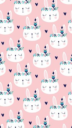 Image about pink in Backgrounds by Camilya♔ on We Heart It Cute Wallpaper Backgrounds, Wallpaper Iphone Cute, Pretty Wallpapers, Cute Cartoon Wallpapers, Screen Wallpaper, Iphone Backgrounds, Iphone Wallpapers, Easter Wallpaper, Kawaii Wallpaper