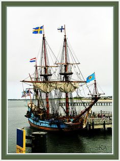 The Kalmar Nyckel at Lewes, Delaware