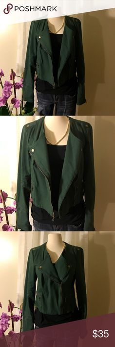 RACHEL Rachel Roy green jacket Size L Super cute jacket! It's a Size L but runs small. 98% cotton and 2% spandex! RACHEL Rachel Roy Jackets & Coats