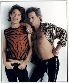 Mick Jagger and Keith Richards..  #KeithRichards #StonesIsm #PattiHansen #MickJagger #CharlieWatts #RonWood #Rock #Legend #Quote #Life #Book