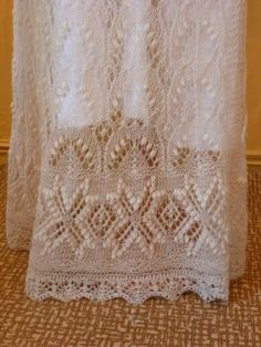 Bottom design for Lace Wedding Dress, Haapsalu Estonia Museum