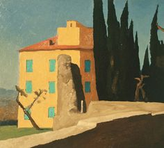 House at Hadrian's Villa, Italy  by Renny Tait 1992   11x12inches   Oil on Board