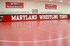 University of Maryland Wrestling Room in the Comcast Center Wrestling Facility