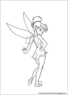 Free Tinkerbell coloring pages for kids to enhance concentration power of your kids through coloring the out sketch images and cartoons