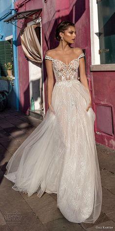 gali karten 2018 bridal off the shoulder heavily embellished bodice romantic elegant soft a line wedding dress sweep train (12) mv -- Gali Karten 2018 Wedding Dresses #bridal