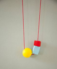 Sunny Polymer Clay Bead Necklace