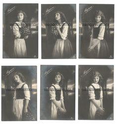 Mignon young girl 6 vintage postcards 1922 no door vintagepostoffice