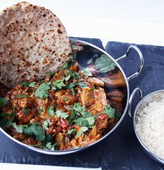 Quorn Meat Free Chicken Style Balti with Cauliflower Rice and Chapatti's