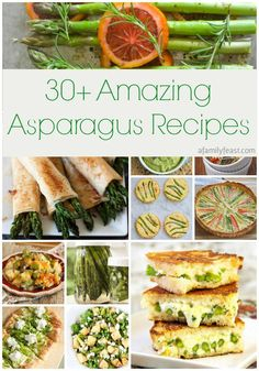 Over 30 Amazing Asparagus Recipes to give you cooking inspiration this Spring! See the collection on A Family Feast