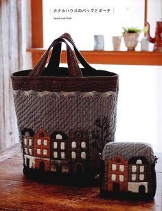 Small Bag & Pouch of Patchwork Japanese Quilt by JapanLovelyCrafts, $25.50