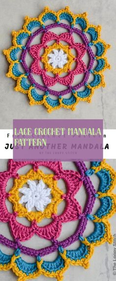 This is Another Mandala has been created and updated by THE LOOPY STITCH site. There was used 5 colours of DMC Natura Cotton and mm hook. This little mandala is made up of 10 rounds using standing stitches and invisible joins, like … Crochet Dreamcatcher Pattern Free, Motif Mandala Crochet, Crochet Motifs, Crochet Circles, Crochet Doilies, Crochet Stitches, Crochet Flowers, Crochet Circle Pattern, Crochet Afghans