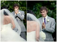 I swear if my husband doesn't have a reaction like this I'm turning around and walking down the aisle again