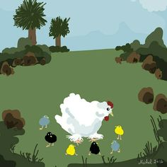 Chinese hen and chicks by Michel Eamon 2016