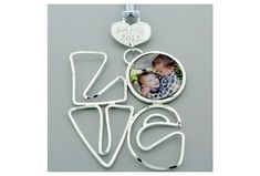 Hey, I found this really awesome Etsy listing at https://www.etsy.com/listing/475659621/silver-love-photo-frame-family-ornament