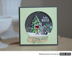 The   October My Monthly Hero kit   has everything you need to create your own winter wonderland, all within an adorable snowg...
