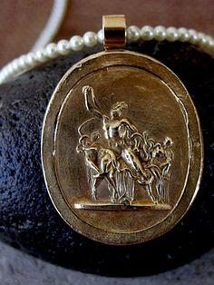 Cameo from Grand Tour- Heracles slaying the Lernaean Hydra -by VisaVisJewelryLA