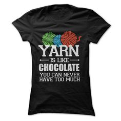 Yarn is like chocolate - you can never have too much #knitting
