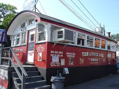 The Lunch Box Diner in Maiden, Massachusetts was built by the Worcester Lunch Car Co. in 1932