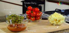 Nuestra ensalada de pasta incluye tomates cherry, los cuales son saludables para la vista y los músculos del cuerpo. #PataCook