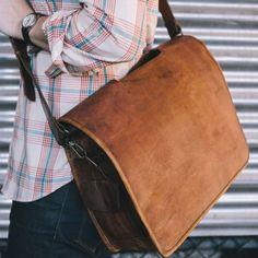 Everett Men's Vintage Leather Messenger Bag $239.95
