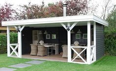 Pool house or outdoor seating for alfresco dining Patio Bar, Patio Roof, Pergola Patio, Pergola Kits, Cheap Pergola, Outdoor Seating, Outdoor Rooms, Outdoor Living, Outdoor Decor